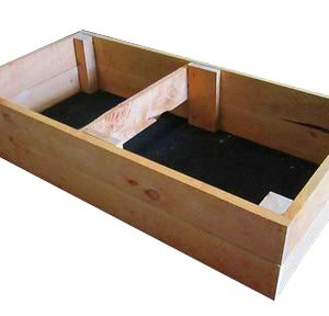 40cm high kitset veggie bed in cypress