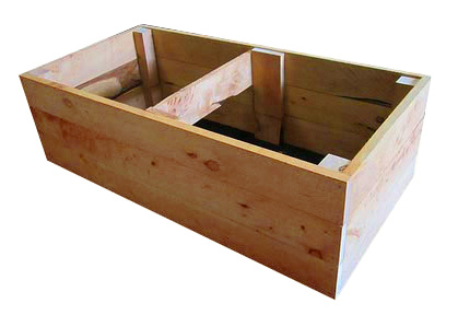 60cm high kitset veggie bed in cypress
