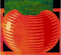 Very Edible Gardens Wicking Beds tomato logo