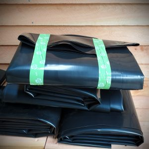Wicking bed liners folded for posting