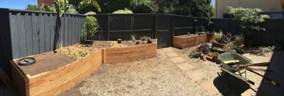 Private garden veggie beds, Brunswick East, Melbourne
